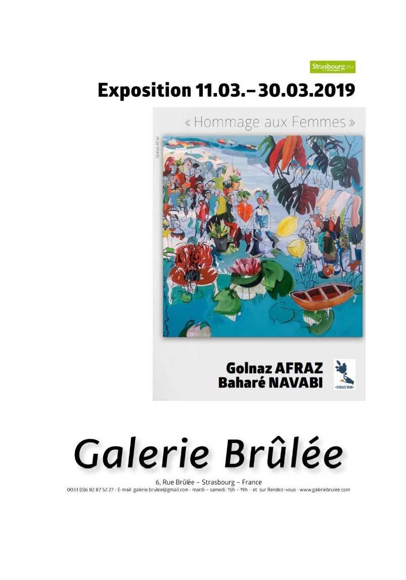 Vernissage le 11 Mars 2019 à la galerie Brulée